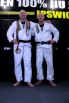 Ross Weeding (left) after receiving is Black Belt from Peter de Been